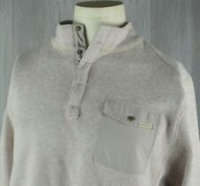 Woolrich Sweater Men's L Pullover T-Snap Beige