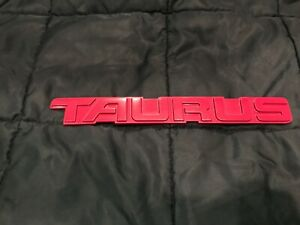 92-95 OEM Ford Taurus SHO Rear Trunk Deck Lid Emblem Badge Logo RED