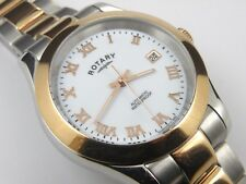 Mens GB00152/01 Rotary Automatic Two Tone Bracelet Watch - 100m