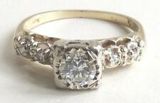 14k yellow gold .36 carat GIA I SI1 diamond VTG engagement ring sz 6 $ 2,100.00
