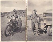 PALERMO: 2 fotocart. di soldato in moto e  a camion militare (foto Lo Verso)