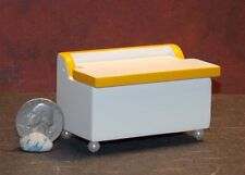 Dollhouse Miniature White Yellow Toy Box Chest 1:12 scale E70 Dollys Gallery