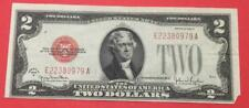 1928G $2 RED US Deuce Choice VF Crispness! X979 Old US Paper Money Currency!