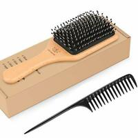 Hair Brush Boar Bristle Hairbrush for Thick Curly Thin Long Short Wet or Dry