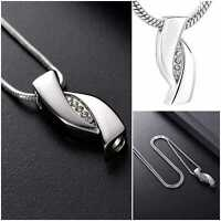 Urn Infinity Necklace Cremation Jewellery Ash Pendant Keepsake Memorial Funeral
