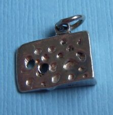 cheese sterling charm Vintage wedge of Swiss