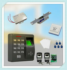 Fingerprint And RFID Card Reader Access Control System Kit With Strike Door Lock