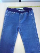 Womans Capture Jeans, Size 8, Blue Denim, High Rise, Slim, Stretch Waist