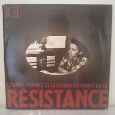 """Chants, poèmes et discours du temps de la résistance (2 x Vinyl 12"""" LP Gatefold"""