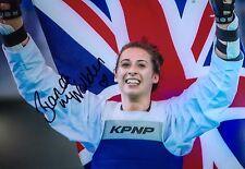 BIANCA WALKDEN - TAEKWONDO WORLD CHAMPION - SUPERB SIGNED CHAMPIONSHIP PHOTO