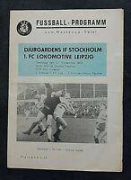 Orig. Programm 1966 1.FC Lok Leipzig Djurgardens Stockholm DDR Sverige program