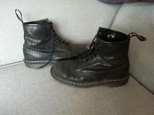 Dr. Martens leather snakeskin boots, 1460, Uk 8 (eu 42)