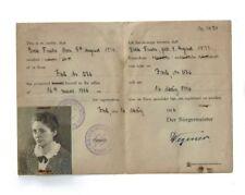 Ausweis 1946 Jork Stade Fuchs Besatzung Foto Stempel Dokument Bürgermeister