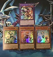 Prank-Kids Battle Butler 4 Cards Set [HISU] HOLO, NM/Mint, 1st Edition, YuGiOh