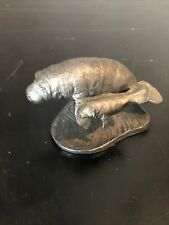 Pewter Figuring Manatee With Baby Michael Ricker #70 1989 4.5x2�h #7