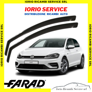 DEFLETTORI ARIA VOLKSWAGEN VW GOLF 7 VII 5 PORTE FARAD fumè ANTITURBO ANTIVENTO