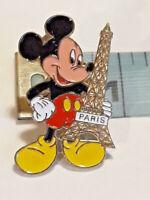 VINTAGE RARE EURO DISNEY PARIS EIFFEL TOWER MICKEY MOUSE ENAMEL PIN LAPEL BADGE