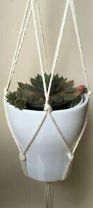 100% Charity Plant Hanger Macrame Hanging Planter Basket Rope Flower Pot Holder