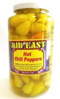 Hot Chili Peppers Kosher 32 LB Jar By Mid East محلل فليفلة حار صغير الحجم