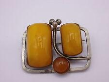 wunderschöne Jugendstil Butterscotch Brosche Bernstein Amber