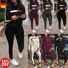 Damen Fitness Trainingsanzug Hausanzug Sport Pullover Hosen Anzug Jogginganzug