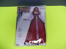 MEDIEVAL LACE UP GOWN WOMEN HALLOWEEN COSTUME UP TO 14/16