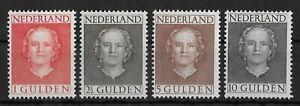 """NETHERLANDS 1949 Mint VLH """"En Face"""" complete Set of 4 NVPH #534-537 CV €1150"""