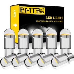 10x 6000K Interior Dome Map License Plate Light T10 LED White 194 168 Bulbs