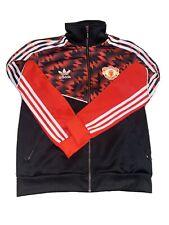 Adidas Trefoil Manchester United Soccer Football Full Zip Track Jacket Small