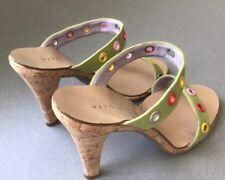 Vintage! Marc Jacobs Lime Green Spring/Summer Cork Heel Stilettos, Size: 10