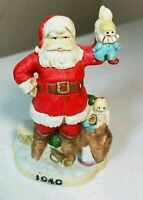 """Santa Claus Figurine featuring a 1940 Santa Claus with Bag of Toys 4.2"""""""