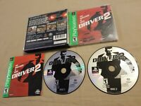 Driver 2 Sony PlayStation 1 2000 ps1 cib complete with manual