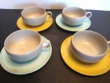 Russell Wright TEA SET Ideal Toy Childrens Dishes Mid Century Cups Saucers Blue