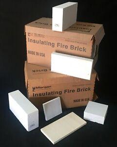K26 Insulating Firebrick 9 x 4.5 x 2.5 Fire Brick Thermal Ceramics 2600F Qty 1