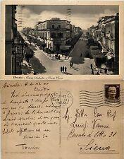 Brindisi, corso Umberto e corso Roma, animata viaggiata 1942
