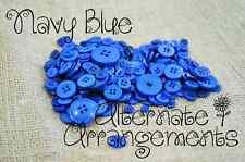 NAVY BLUE - Mixed Bulk Buttons 250+ Craft Scrapbooking Bouquet Mixed Colours