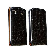 housse étui coque style crocodile noir pour Samsung Galaxy SL i9003