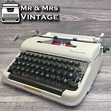 Serviced Olympia Beige SM2 Typewriter Working Black Red Ribbon (Older SM3)