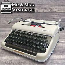 vintage Olympia Beige SM2 Typewriter Working Black Red Ribbon (Older SM3)