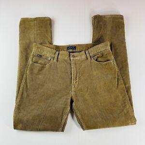 Polo Ralph Lauren Corduroy Jeans Beige 5 Pocket Mens Size 34x34