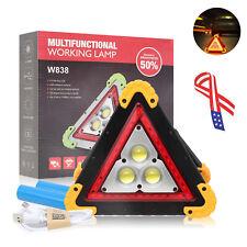 New!Led Spotlight Triangle Warning Emergency Light Flashing Sign Roadside Safety