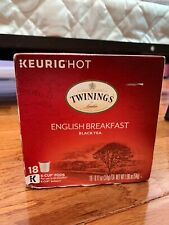 Twinings of London English Breakfast Tea K-Cups for Keurig, 18 Count (Brand new)
