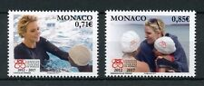 Monaco 2017 MNH Princess Charlene Foundation 2v Set Swimming Royalty Stamps