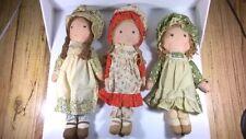 Vintage Holly Hobbie Doll Lot Of 3 Amy Cerrie Heather American Greetings