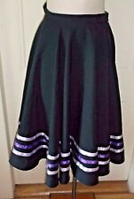 Vintage Hepburn Style High Waisted Full Swing Circle Skirt Womens XS Rockabilly