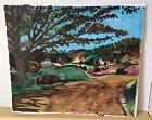 "Rural Landscape Road Farms Fauvist Watercolor by Stephanie DeRoche 12"" X 14"""