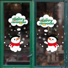 Merry Christmas Snowman Wall Stickers Home Living Room Art Decal DIY Door Decor