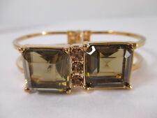 Banana Republic Snake Bronze Square crystal Cuff Bracelet NWOT $49.50