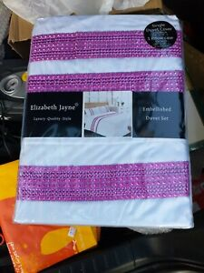 Elizabeth jayne Single Duvet Cover. White Sparkle