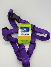 Top Paw Gunmetal Core Adjustable Dog Harness Size: Medium, Purple